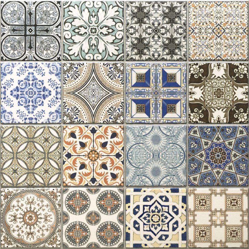 Realonda Provenze Pattern Multi design Wall Floor Tiles in