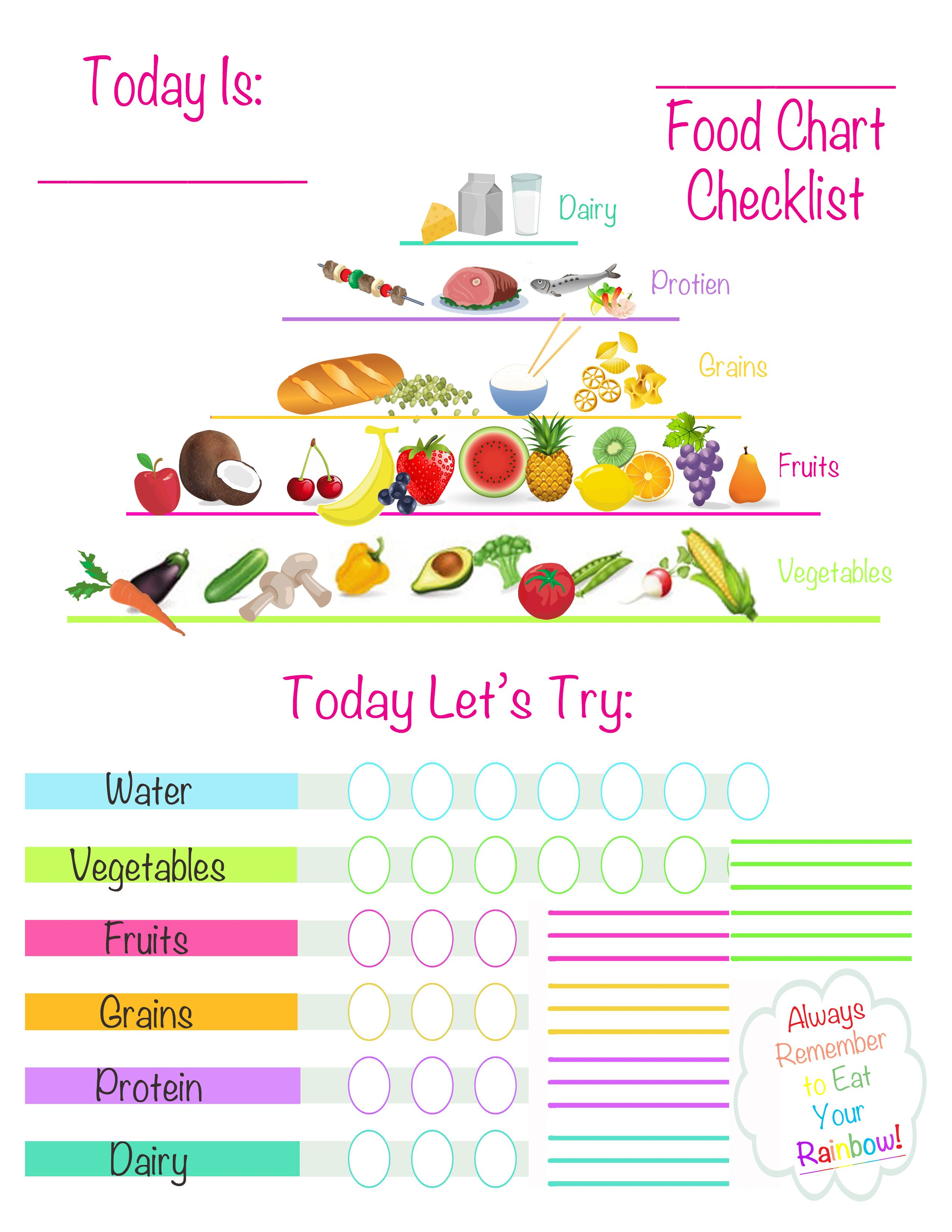 Kids Healthy Eating Printable