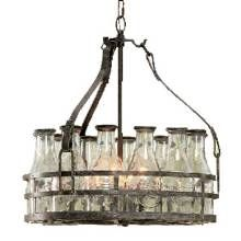 Got Milk Bottle Chandelier Features 12 Glass Bottles Each Embossed With The