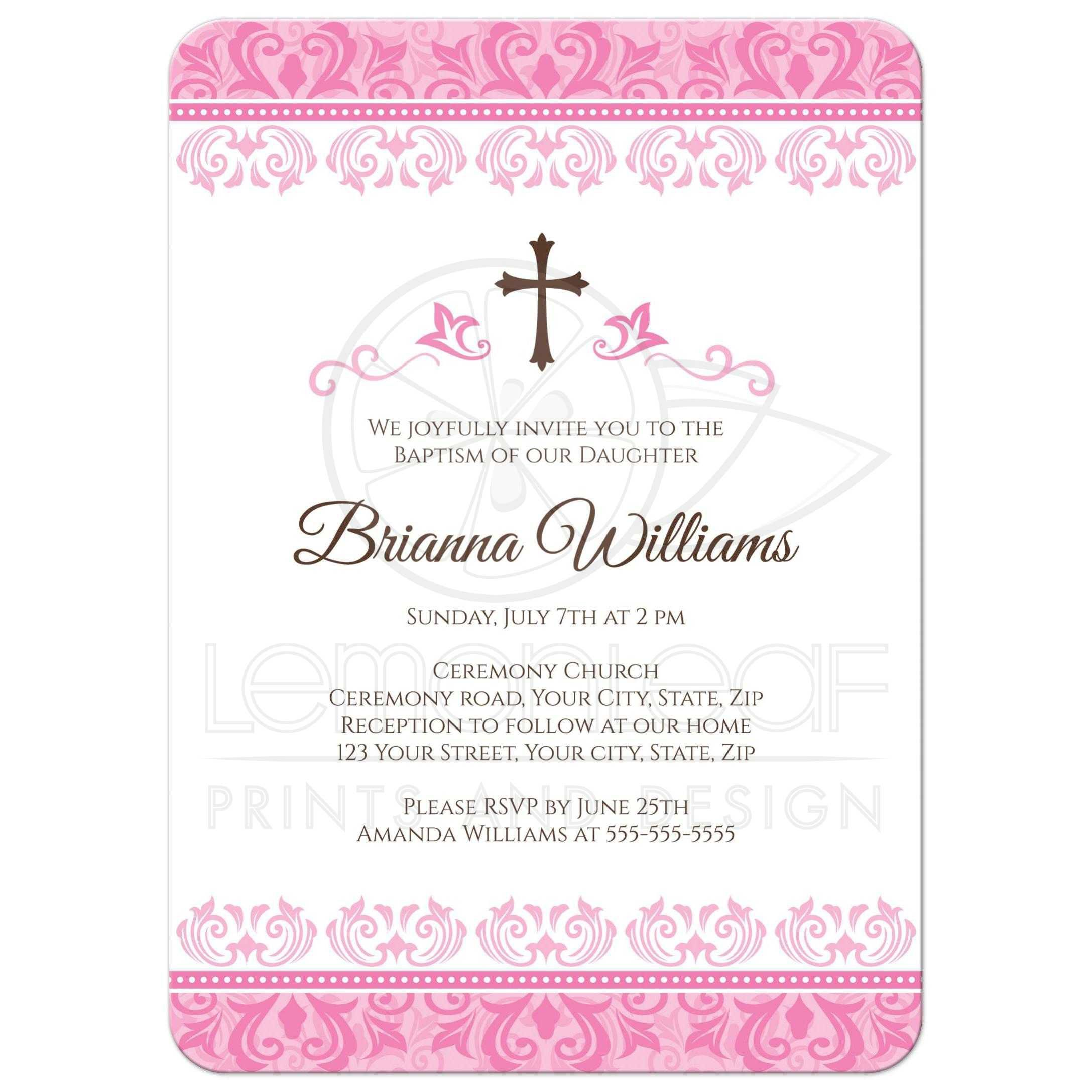 baptism invitation wording bible verses baptism