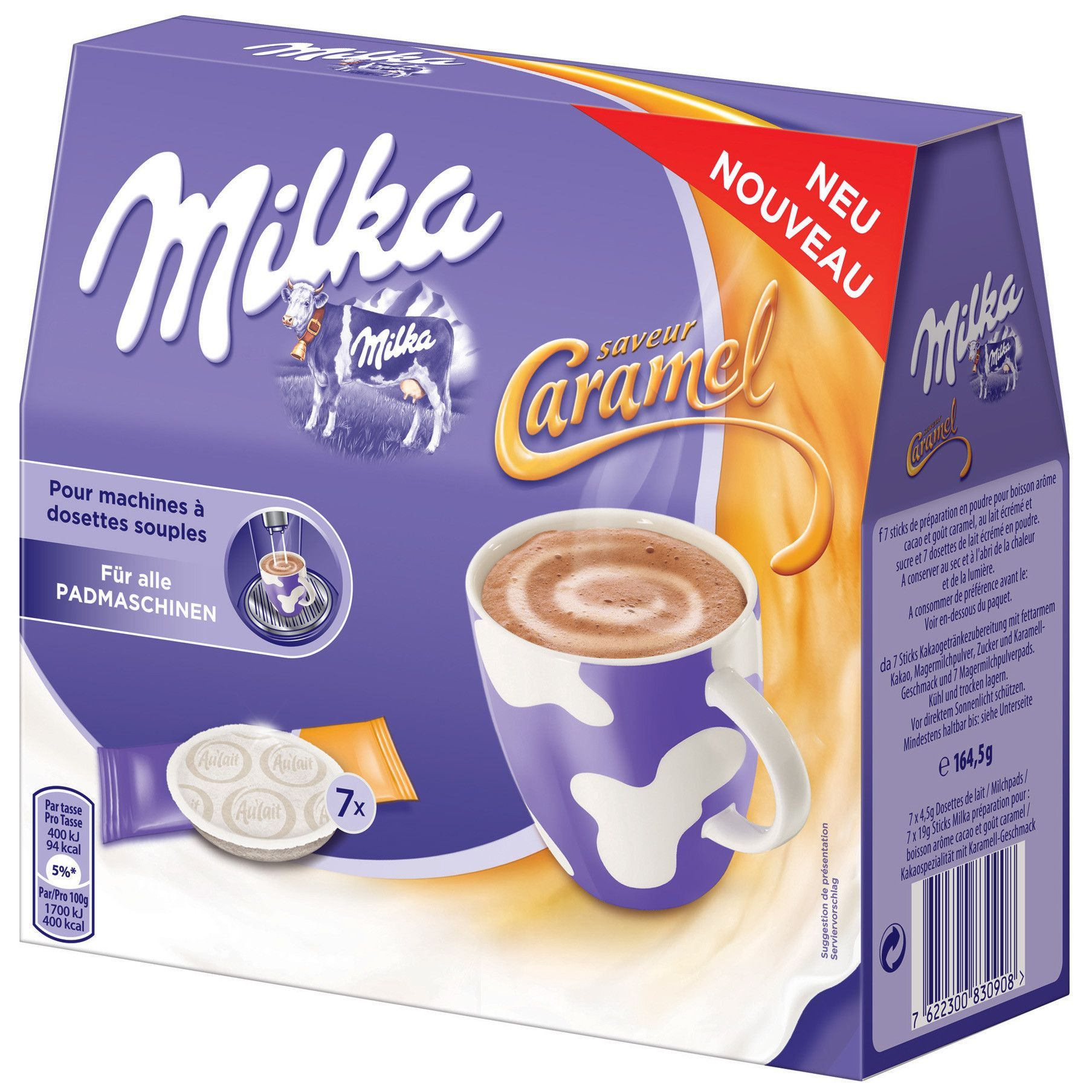 in USA Milka PadsCARAMEL Hot chocolate for any pad