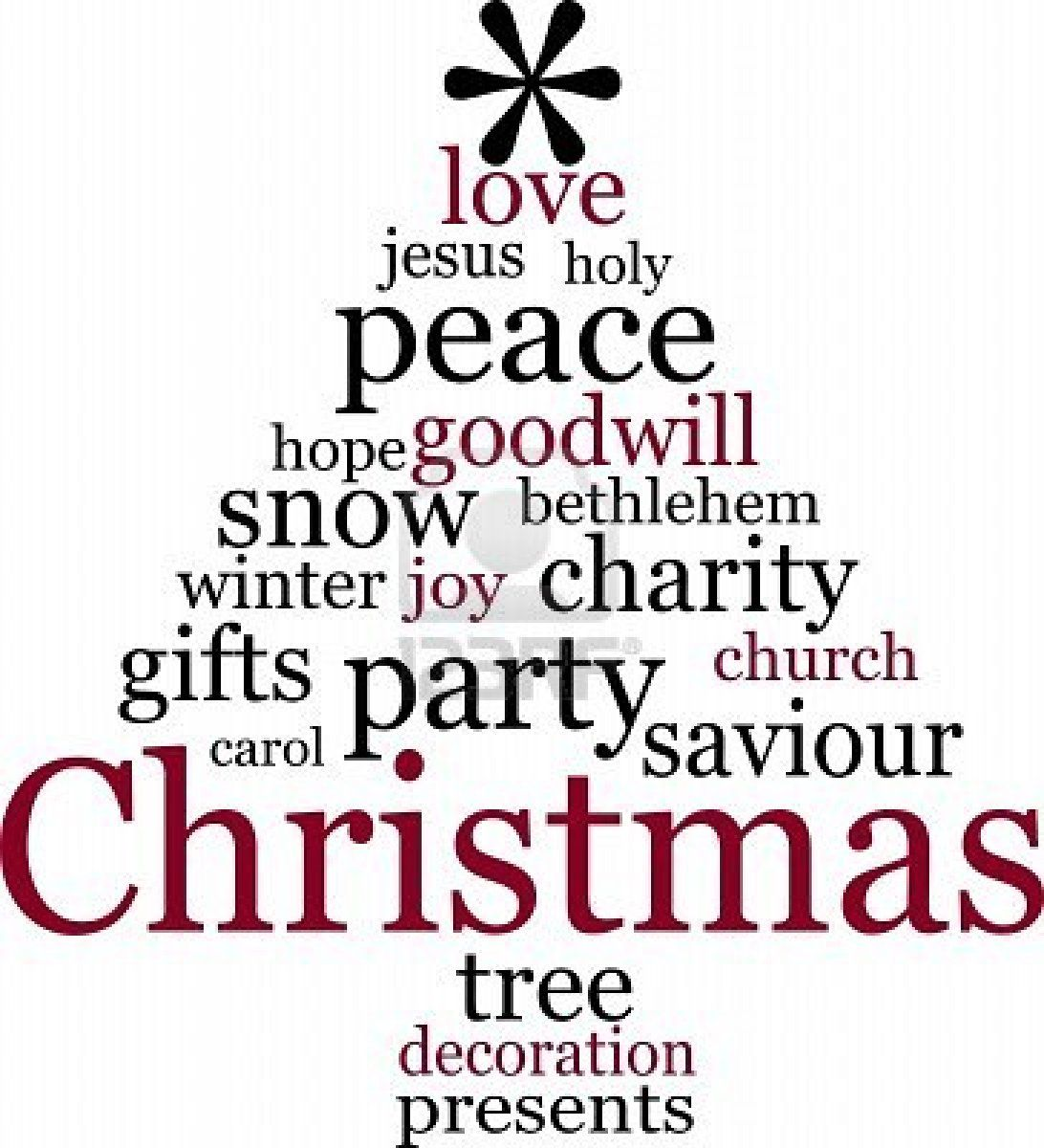 Word cloud Christmas Tree Word Art Pinterest Word
