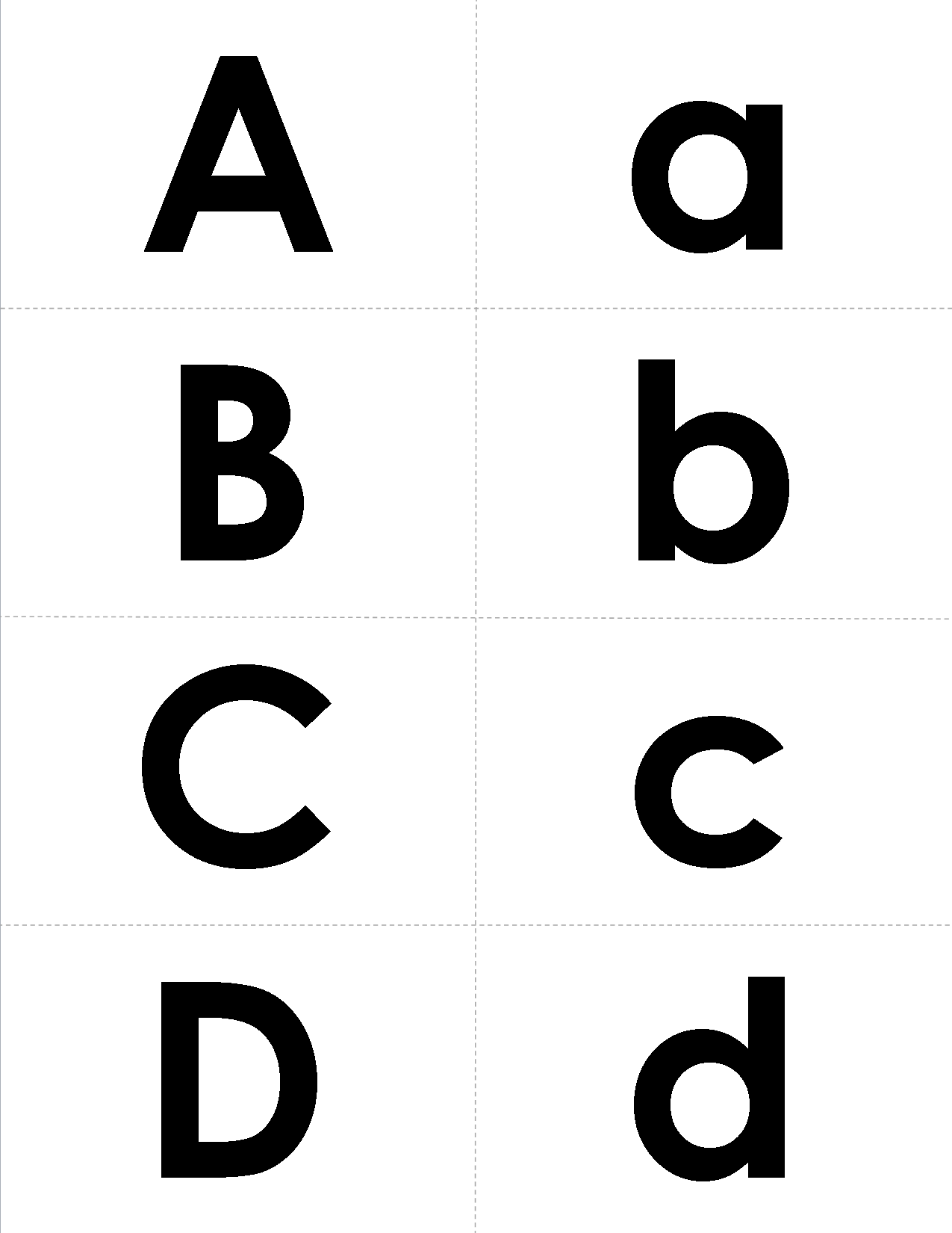 A Set Of Letter Matching Cards In A Simple But Bold Font Cut The Letters Apart And Have Kids