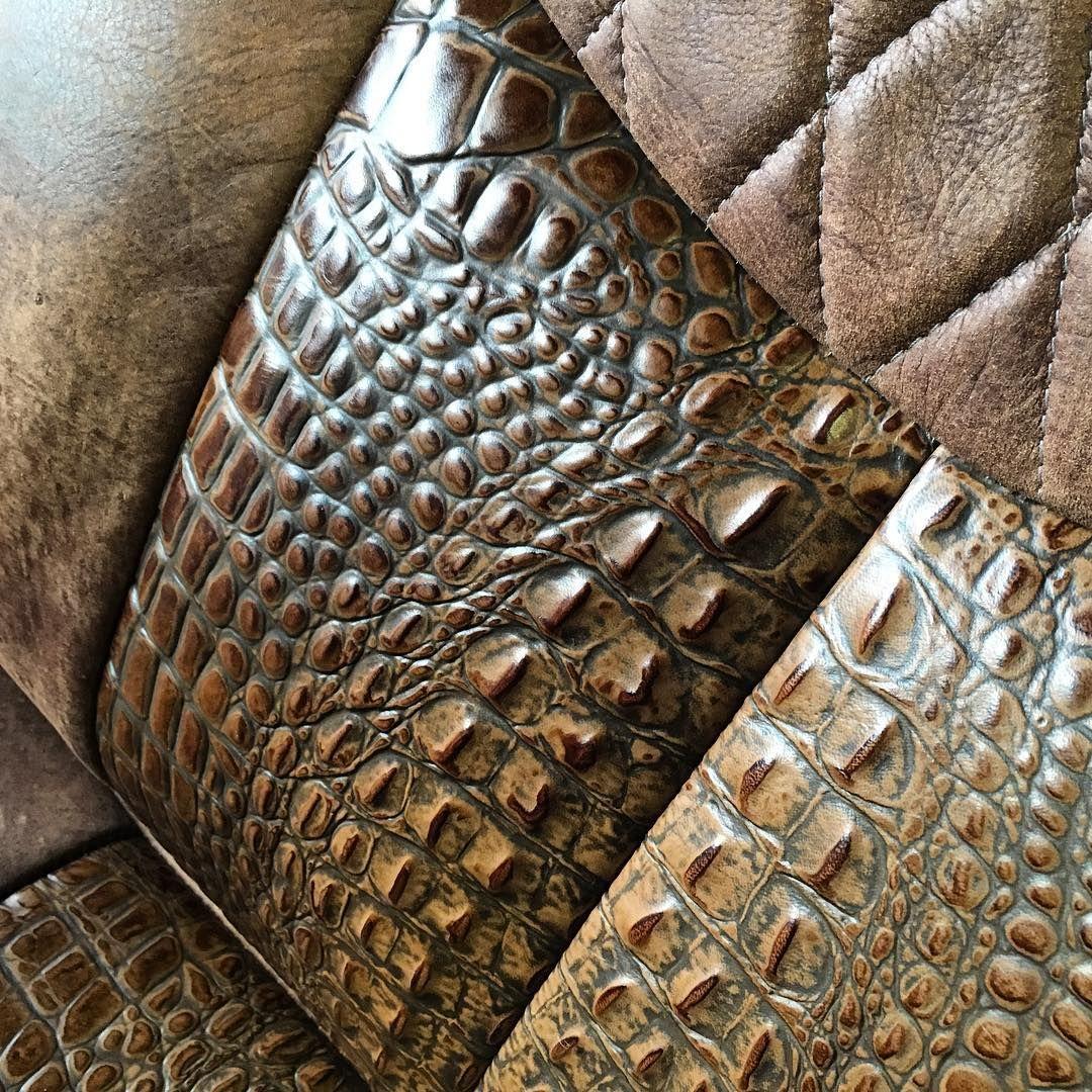 Alligator Or Crocodile Leather Seat Inserts Vehicles