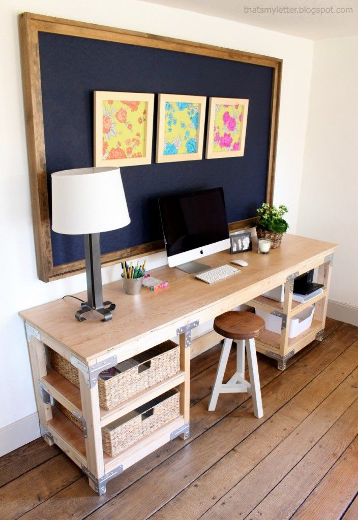 For the office/garage Ana White Build a DIY Desk