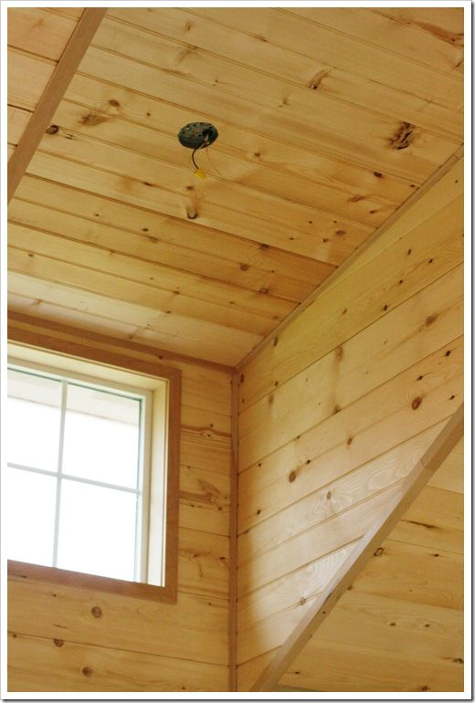 Unfinished Pine Walls And Ceiling Carmellas Cabin