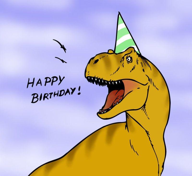 Dinosaur birthday card by robthedoodler dinosaurs