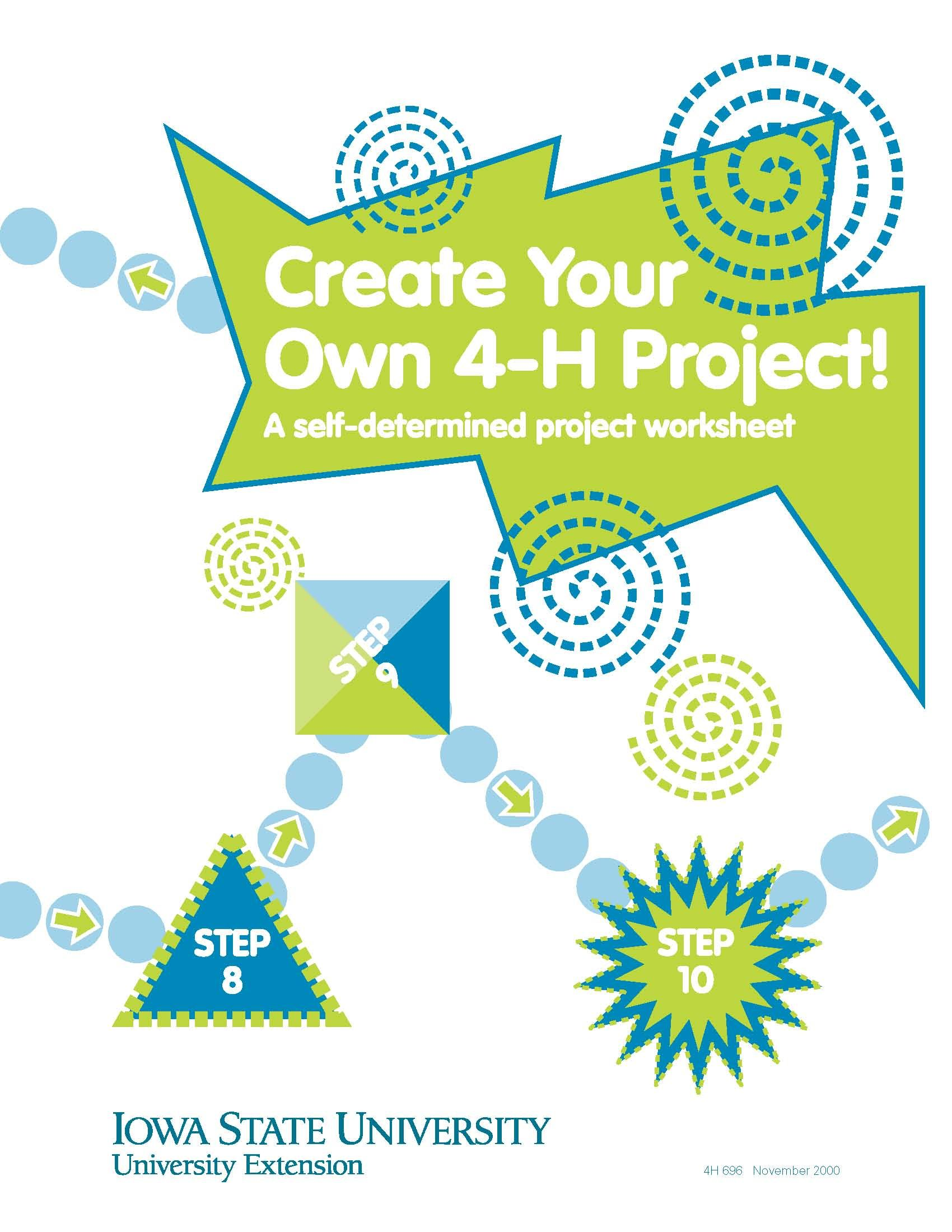 Create Your Own 4 H Project A Self Determined Project Worksheet