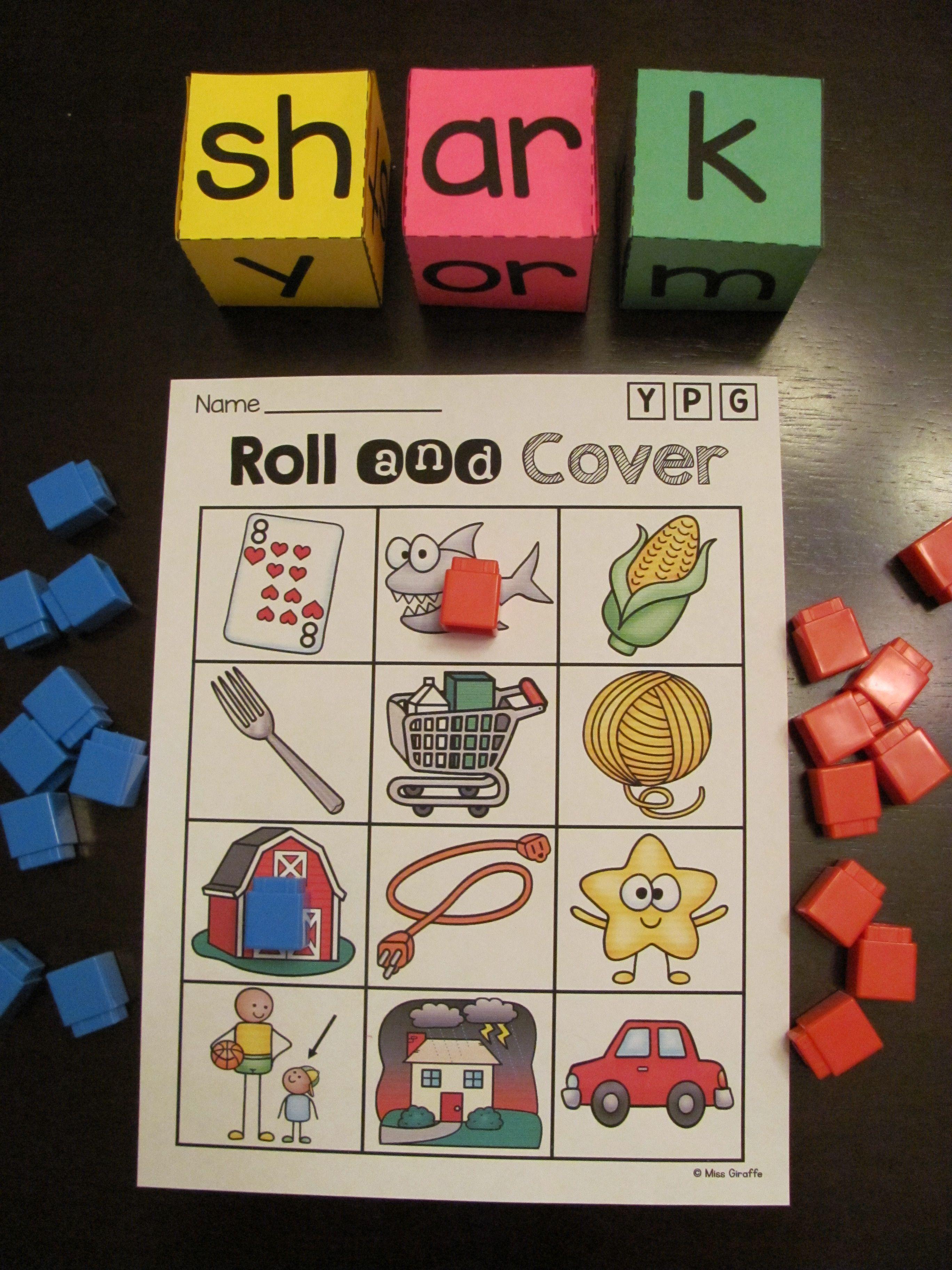 Bossy R Word Roll R Controlled Vowels Centers