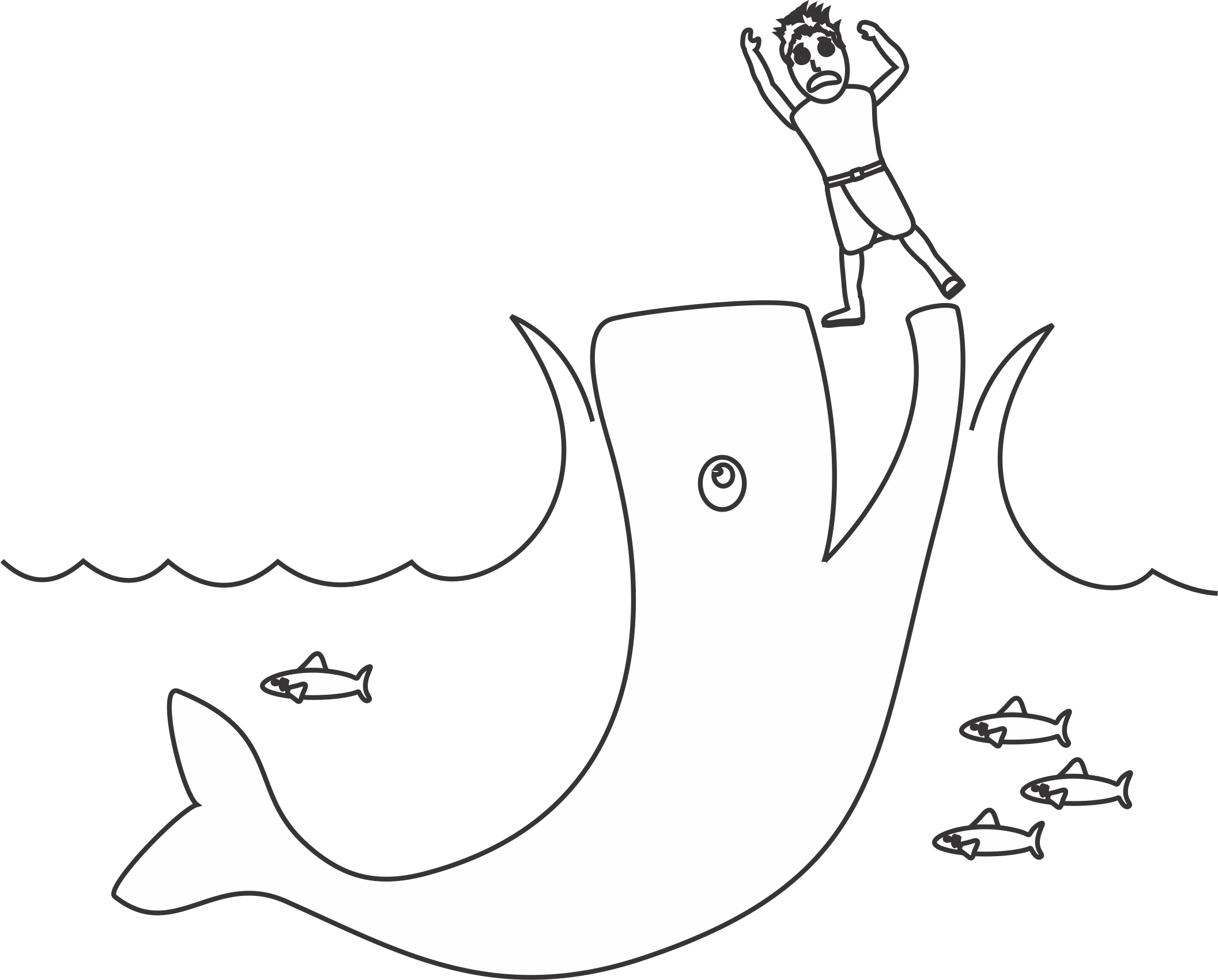 Jonah And The Whale Coloring Page For The Sign Of Jonah Lesson