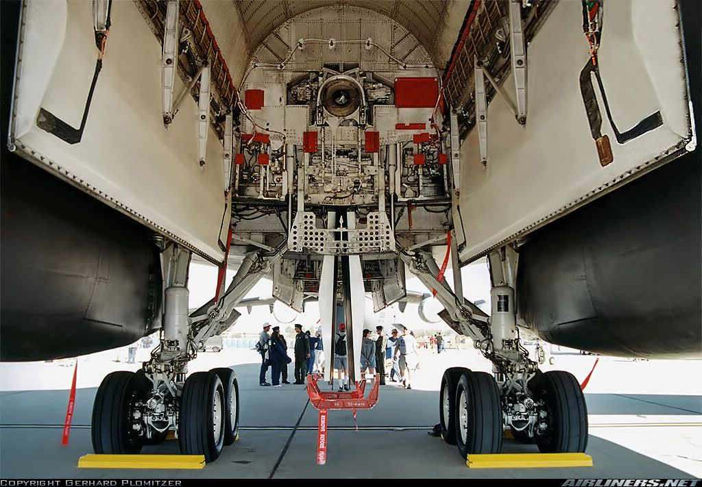 Open bomb bay of a B1B Lancer Military Aviation