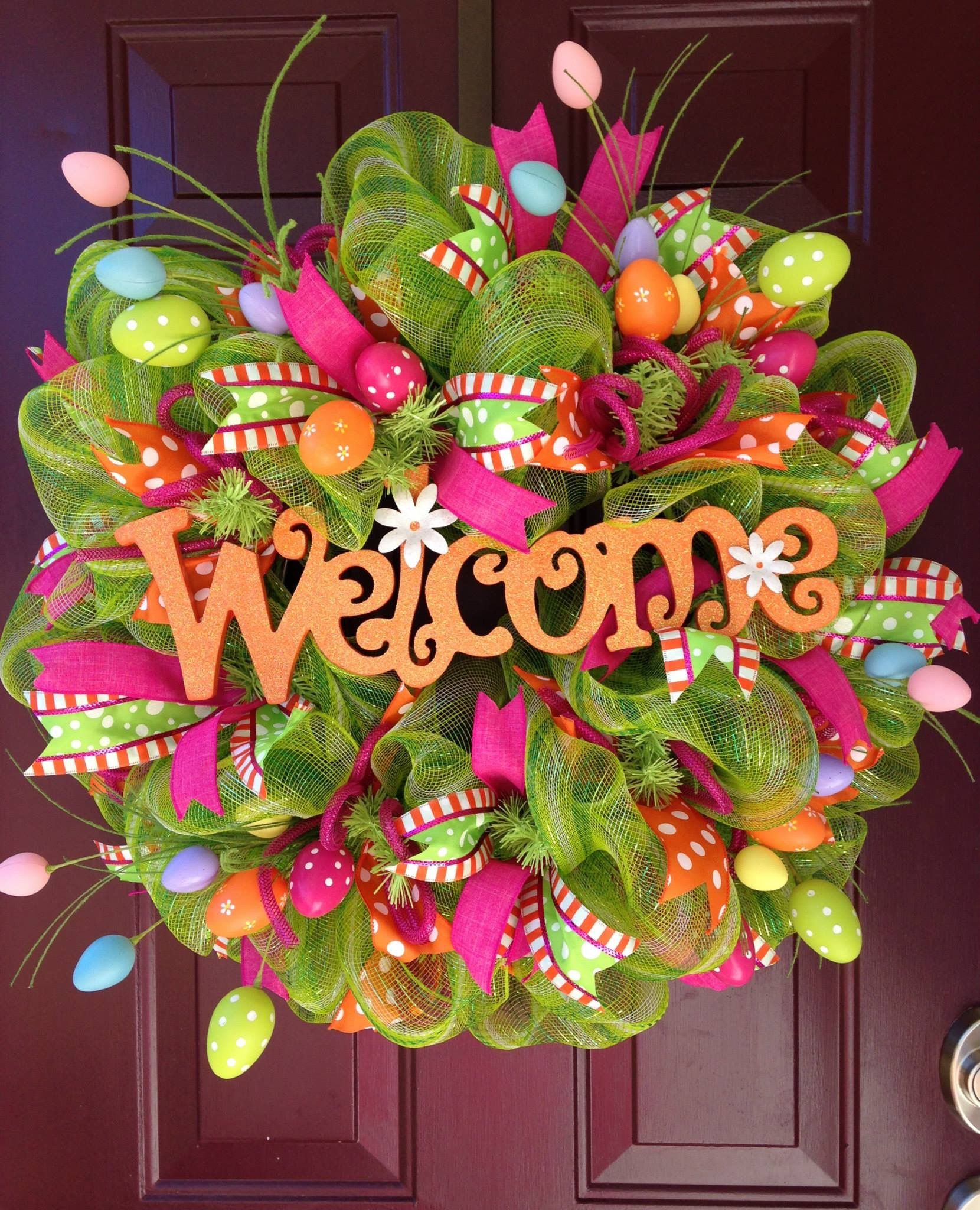Spring Easter Wreath Wreaths Pinterest