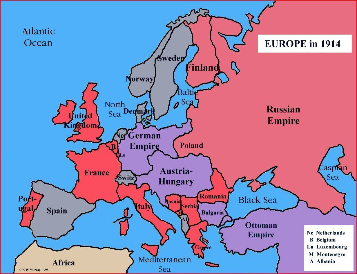 Very Simple Map Of Europe In
