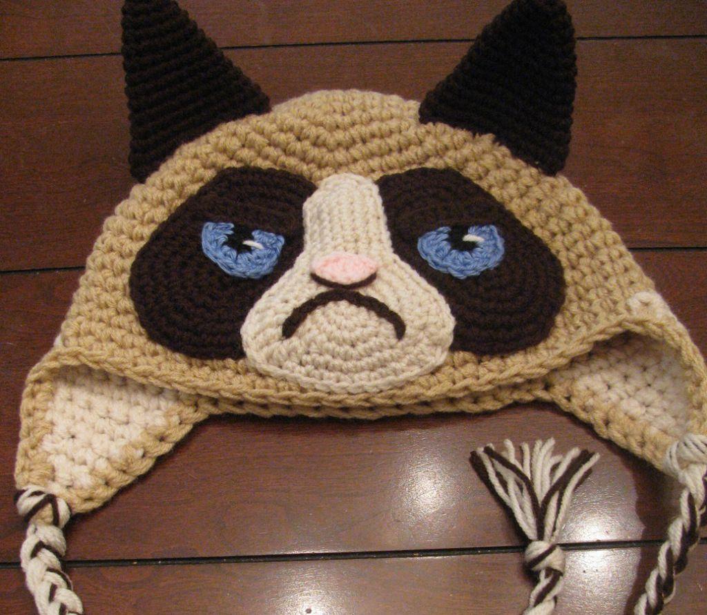 Grumpy Cat Hat for Ed Sheeran Hats, Grumpy cat and Crochet