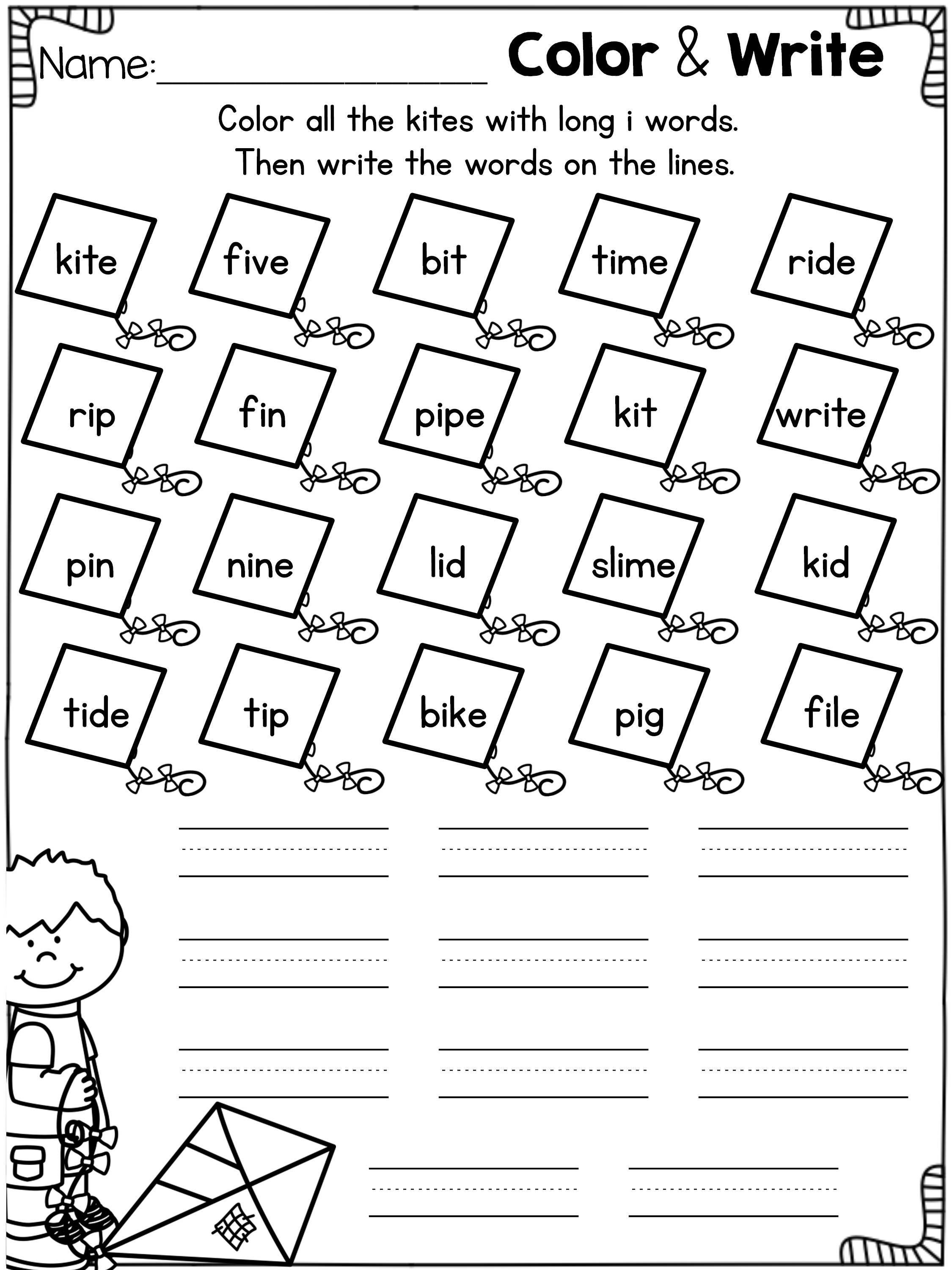 Long Vowel Worksheets And Activities