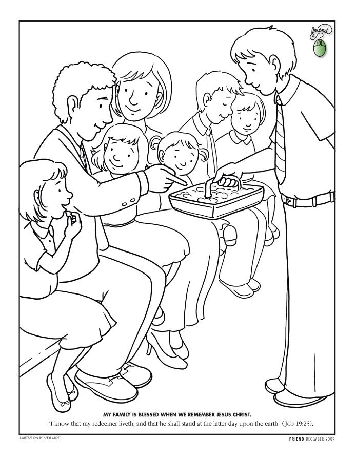 lds coloring pages lds and the sacrament on pinterest