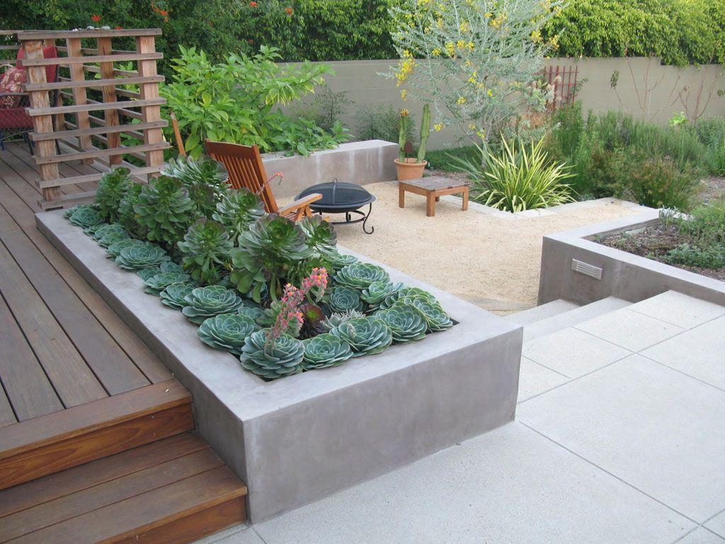Desert Backyard Landscaping Ideas. retaining wall. backyard