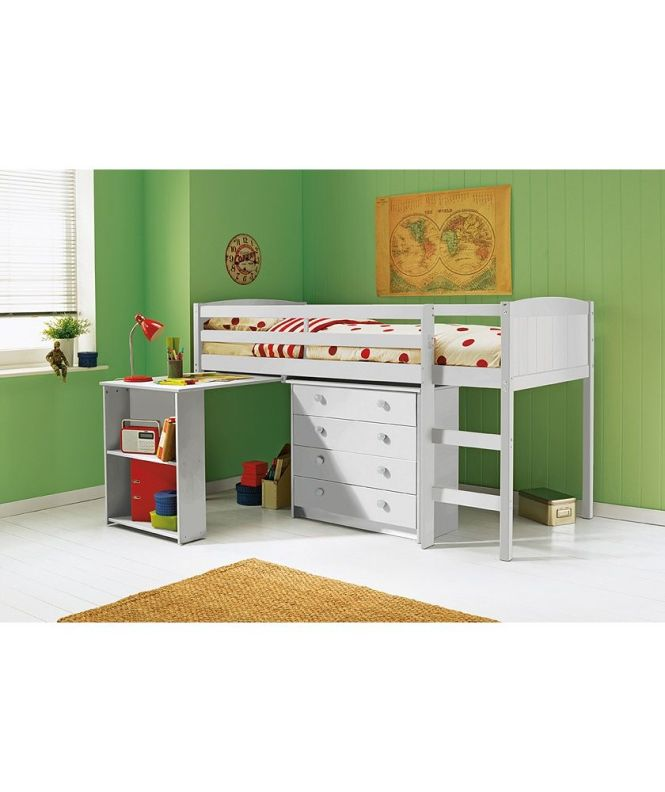 Kelsey Mid Sleeper Bed Frame With Desk White At Argos Co Uk