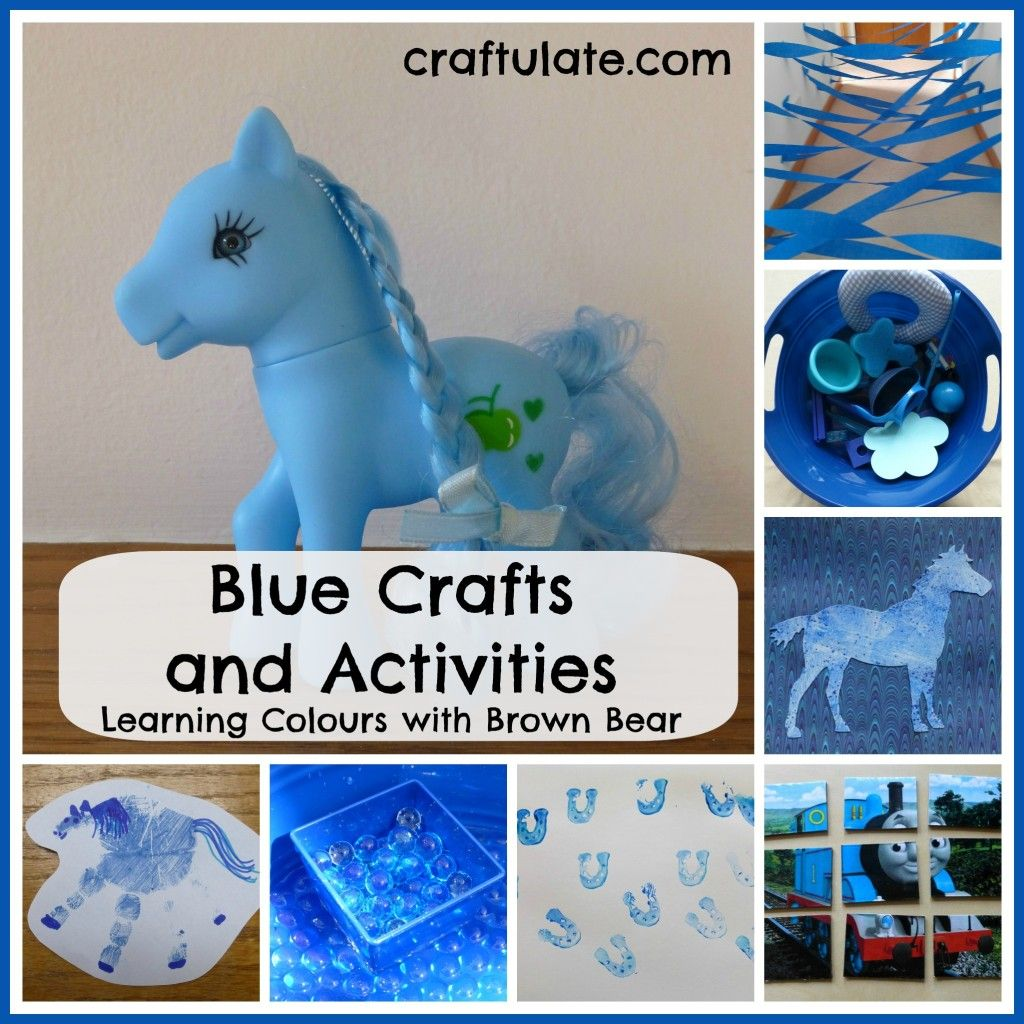 Blue Crafts And Activities Learning Colours With Brown