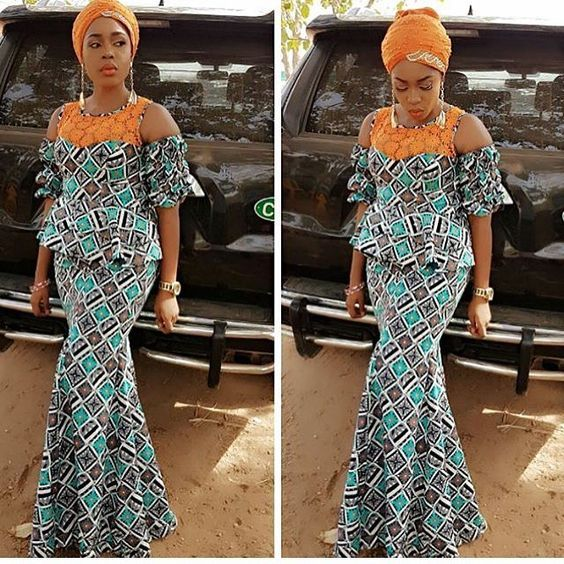 6195eab30c0da6 Check Out this Beautiful Ankara Styles with Lace – DeZango Fashion Zone