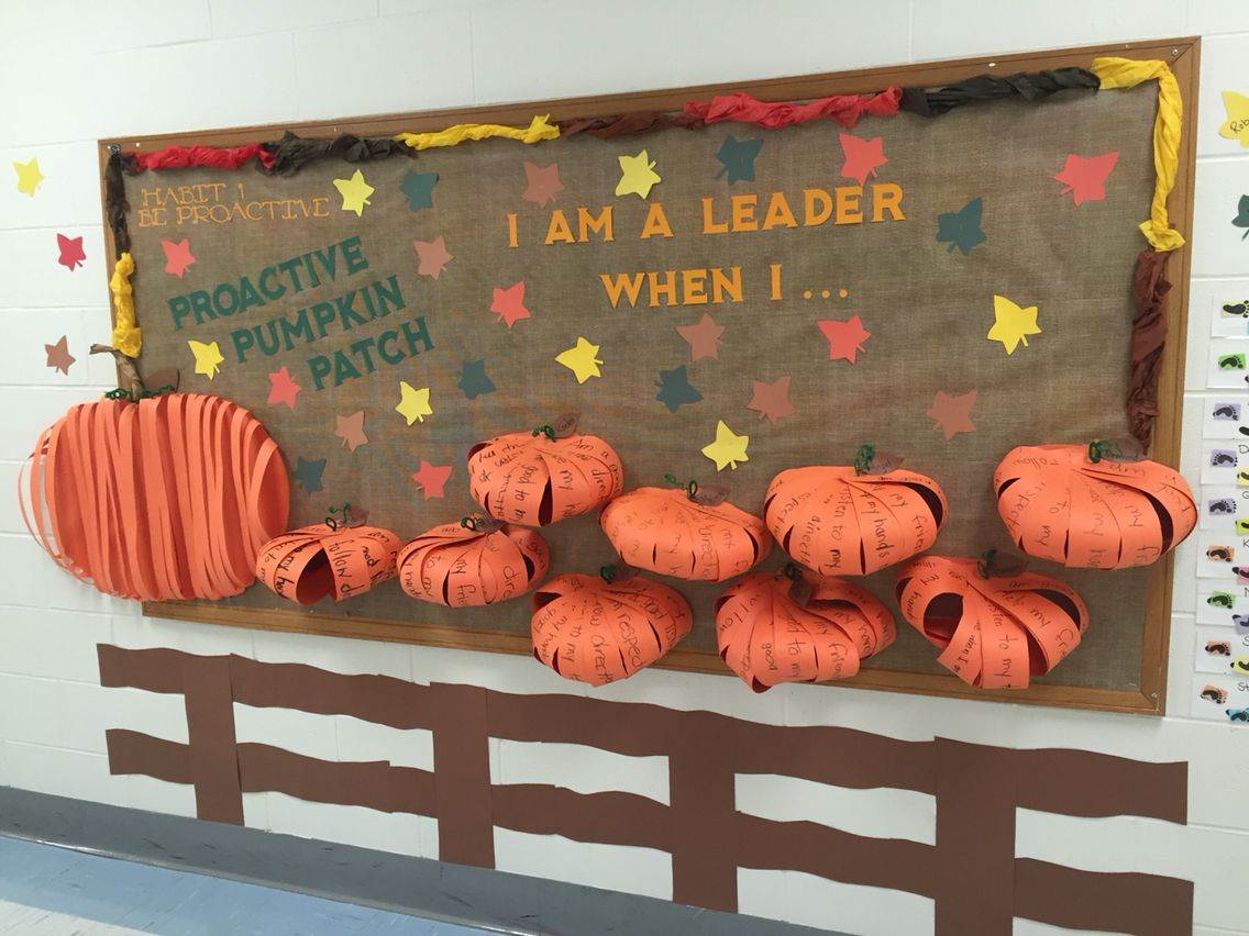 The Leader In Me Habit 1 Be Proactive Fall Bulletin