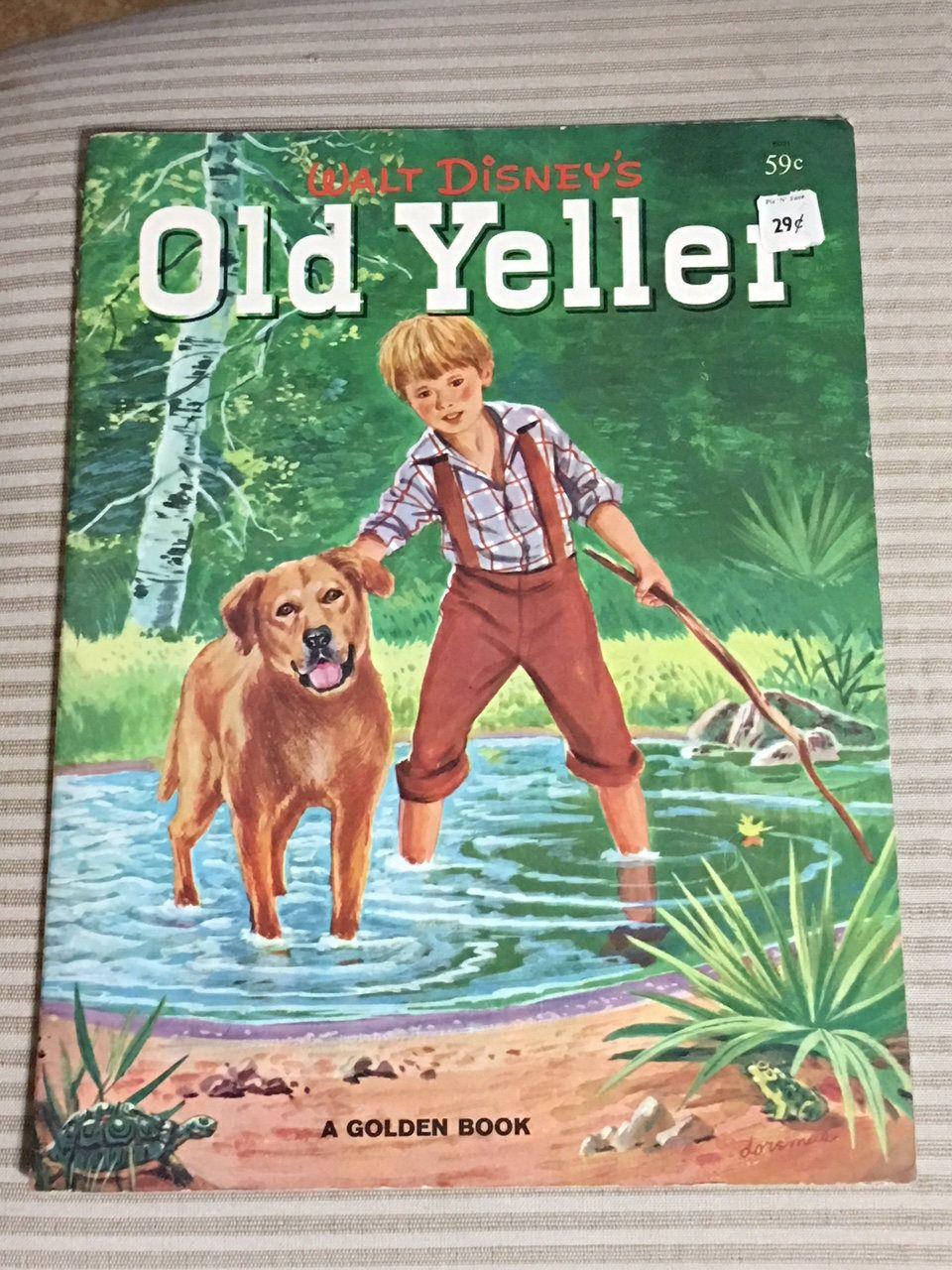 W Lt Disney Old Yeller Big Golden Book Ftcover 1958 Gips