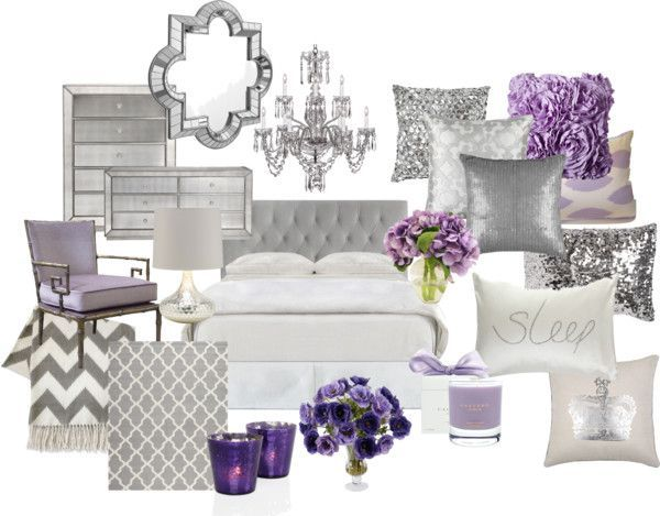 lavender and grey bedroom by chloeg01 on polyvore | master bedroom