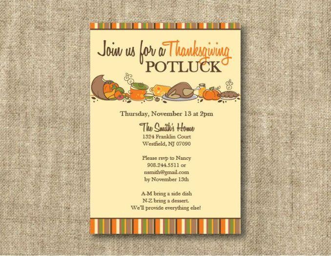 thanksgiving potluck invitation message newsinvitation co