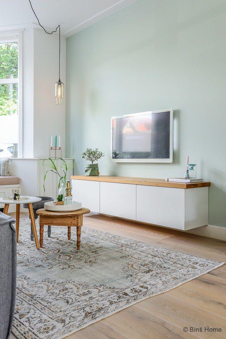 tv meubel Ikea Jaren 30 woning Woonkamer makeover Haarlem