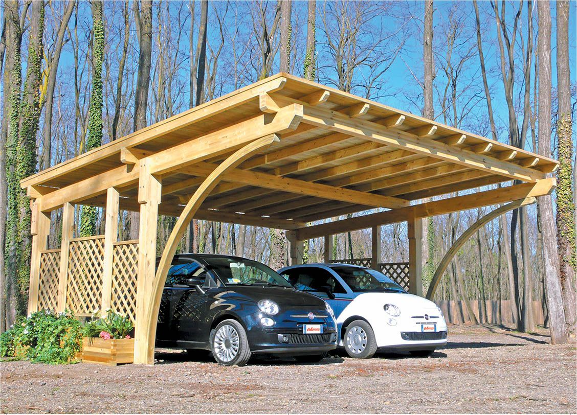 Exterior, Back to Nature Wood Car Ports Wood Car Ports
