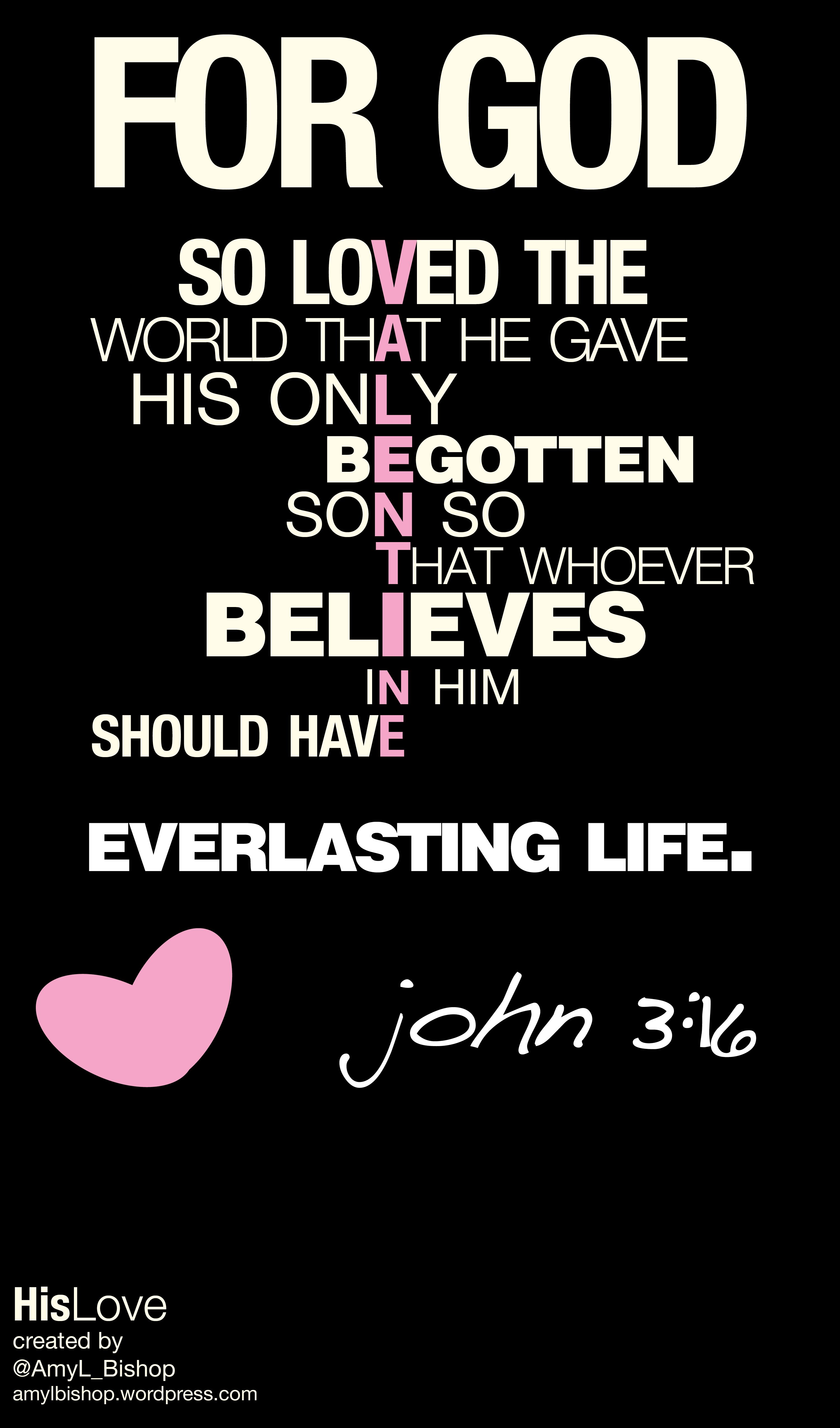 Happy Valentines Day John 3 16 Scripture Jesus