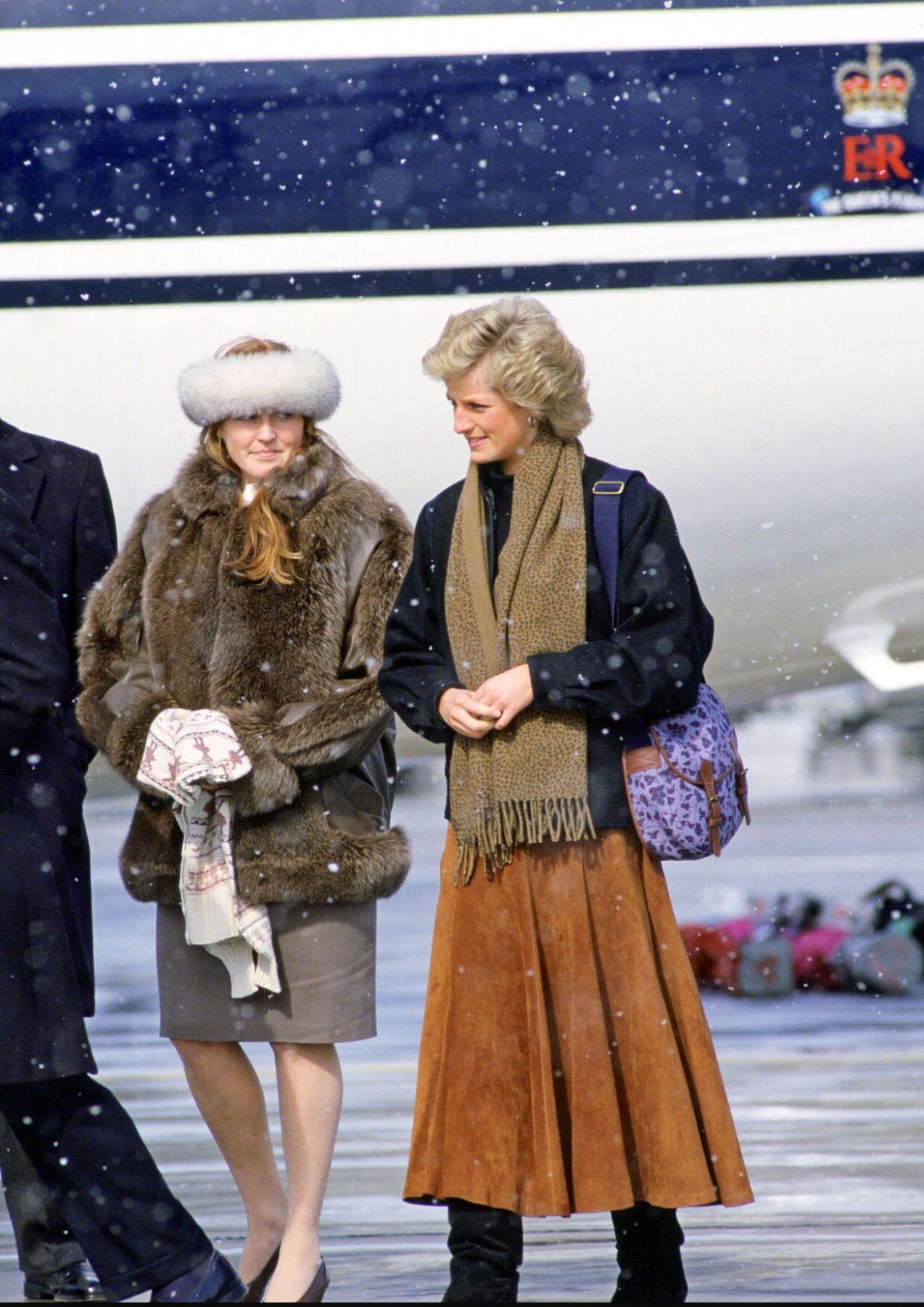 Sarah e Diana a Zurigo nel 1988 Princess Diana and