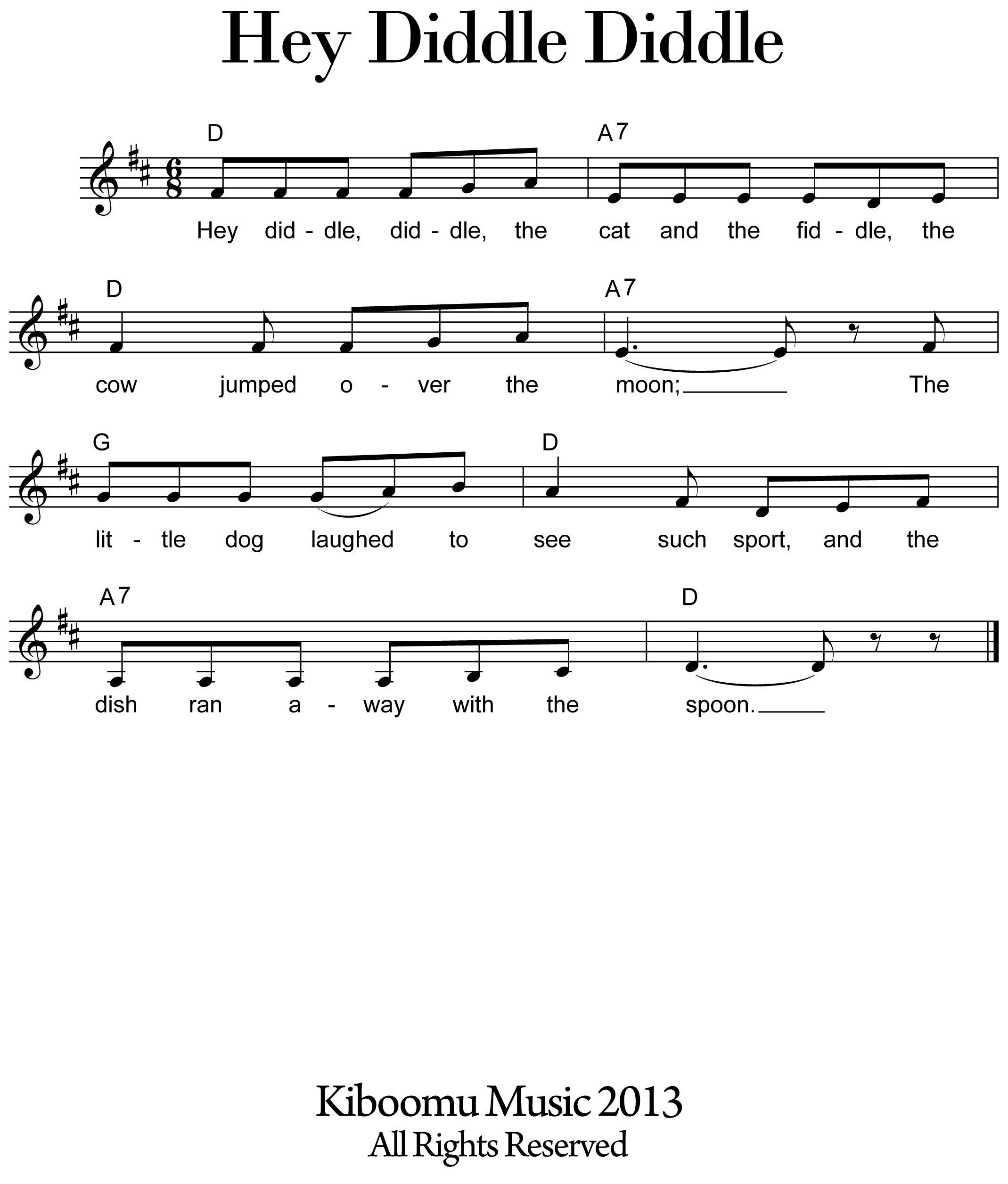 Nursery Rhymes Music Sheet Thenurseries