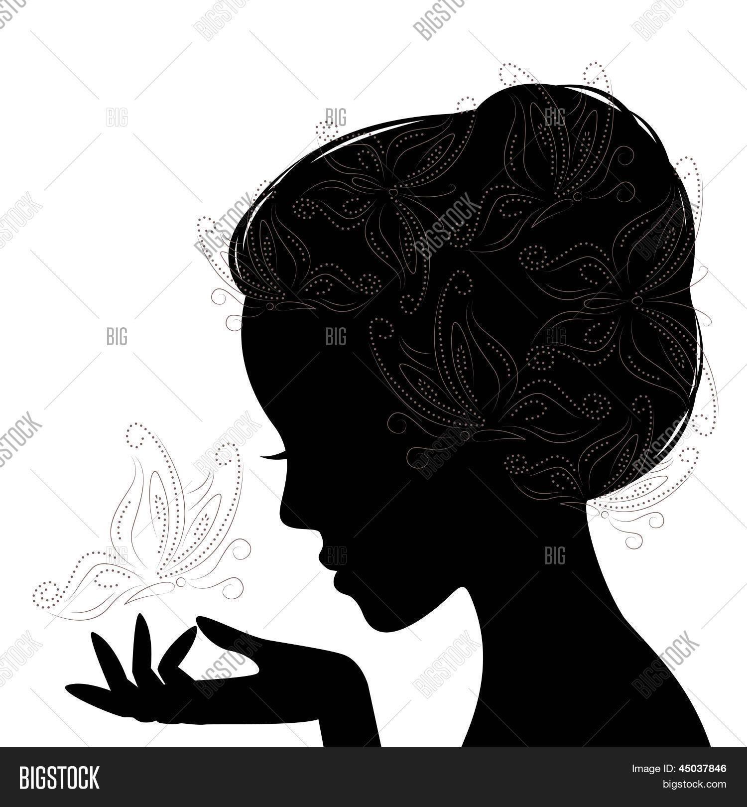 silueta cara mujer frente Buscar con Google Printables