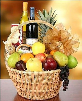 Wine Amp Fruit Gift Basket Idea Great For Clients And To