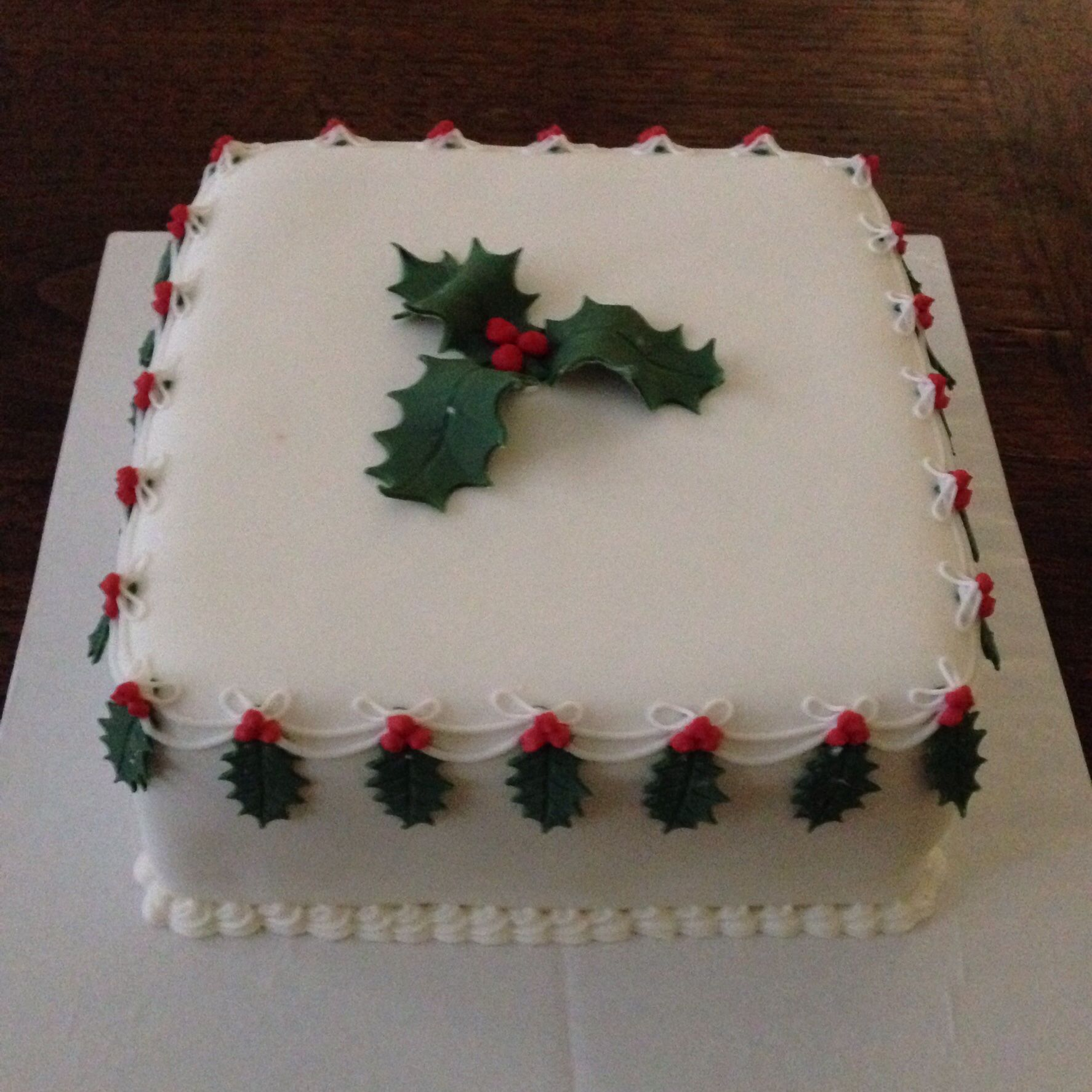 Another Christmas Cake Square Sugar Paste Fruit