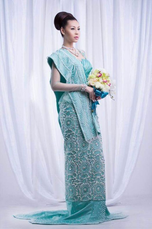 Myanmar wedding dress | Myanmar Wedding Dress | Pinterest ...