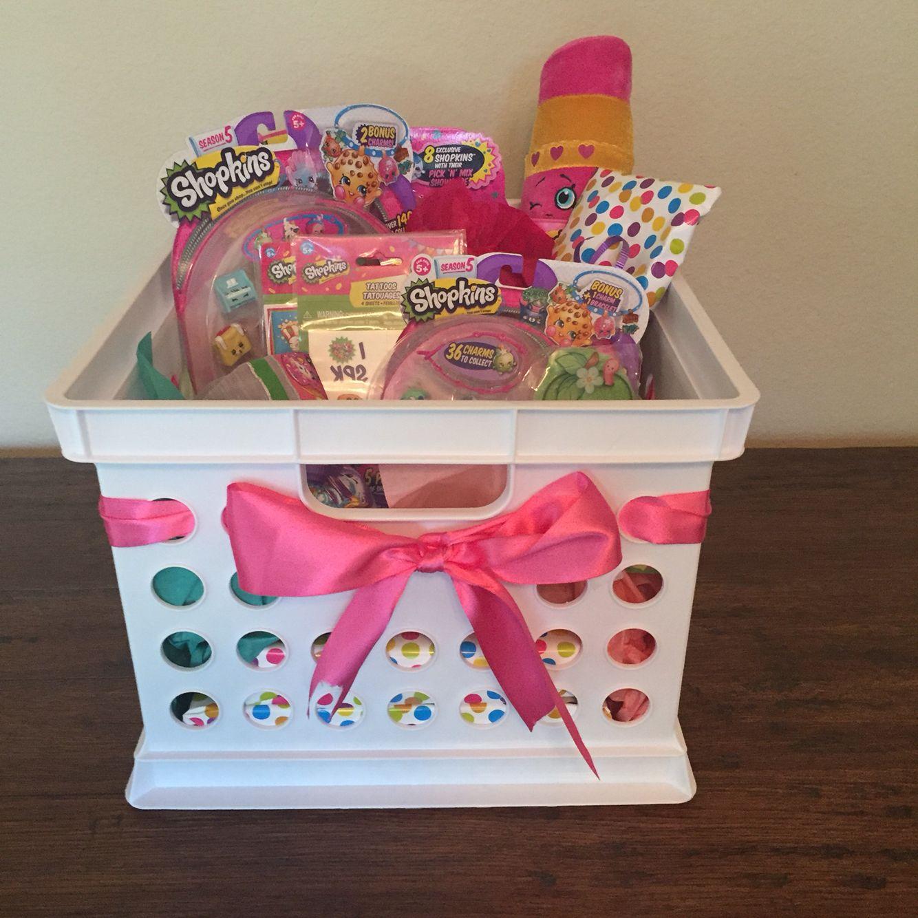 Shopkins Gift Basket DIY Pinterest Shopkins, Gift