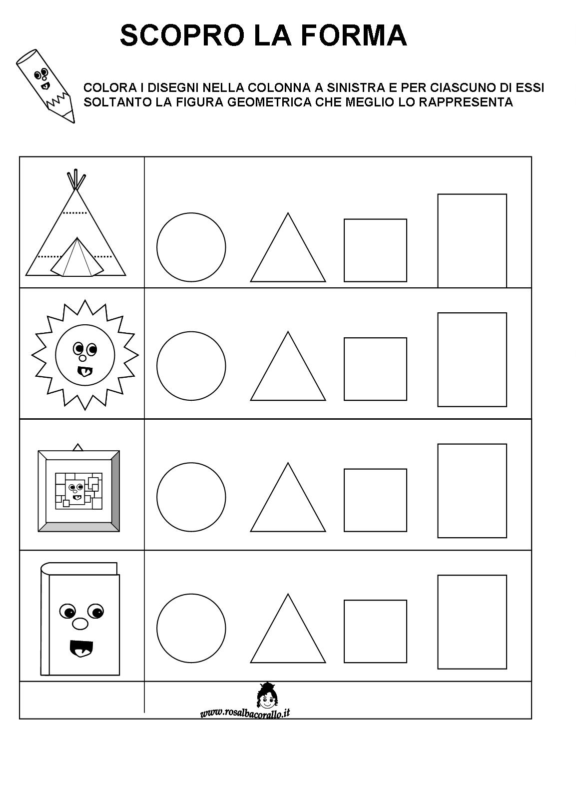 Schede Didattiche Figure Geometriche Per Bambini Di 4 5 Anni