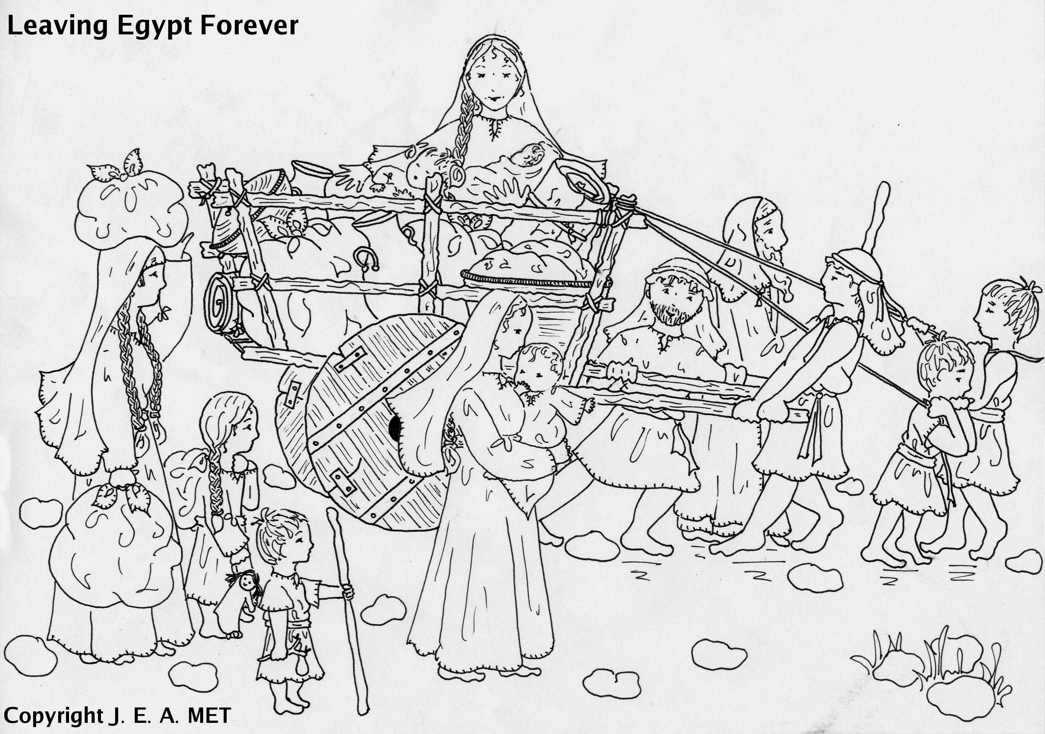 The Bible Israelites Leaving Egypt Coloring Pages