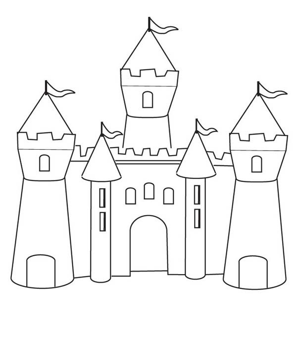 coloring pages coloring and medieval castle on pinterest