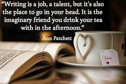 Image result for writing and cup of tea and books