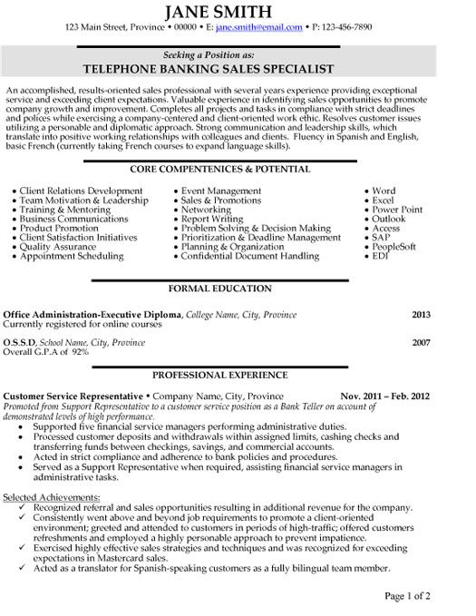 1000 images about best banking resume templates amp samples on