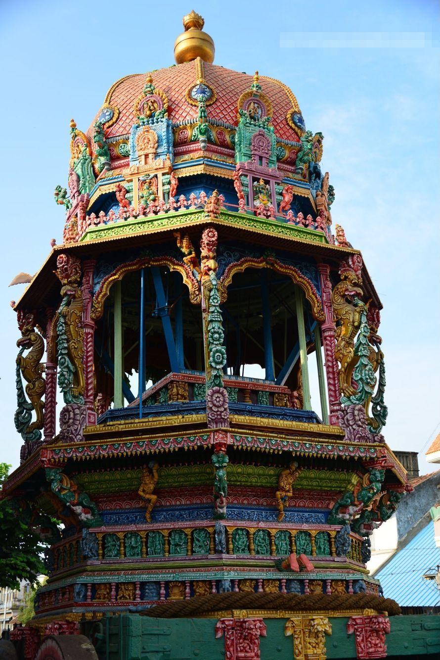 Temple panguni ther (temple car), Srirangam in Tamil Nadu