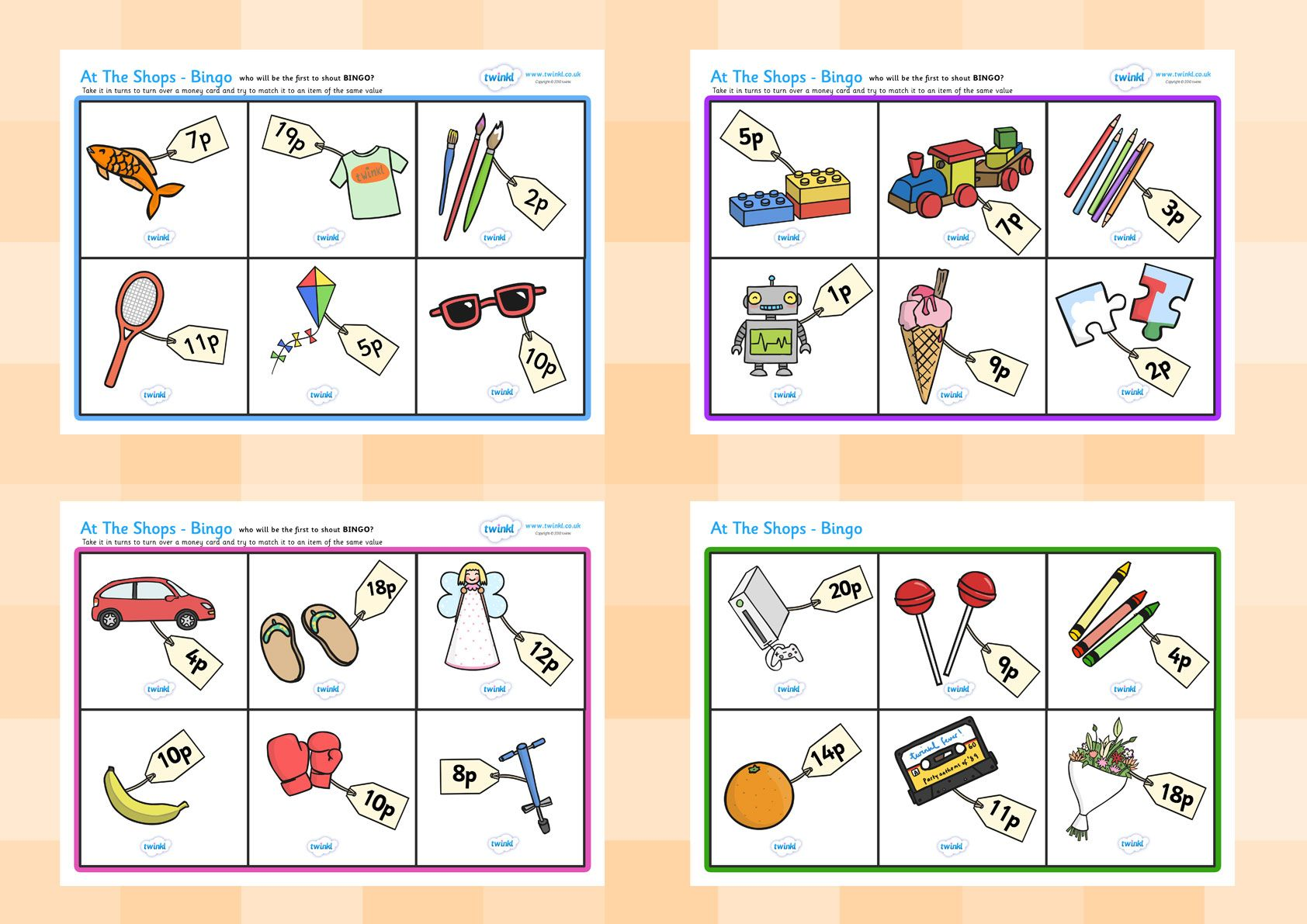 Twinkl Resources Gt Gt Toy Shop Bingo Gt Gt Printable Resources