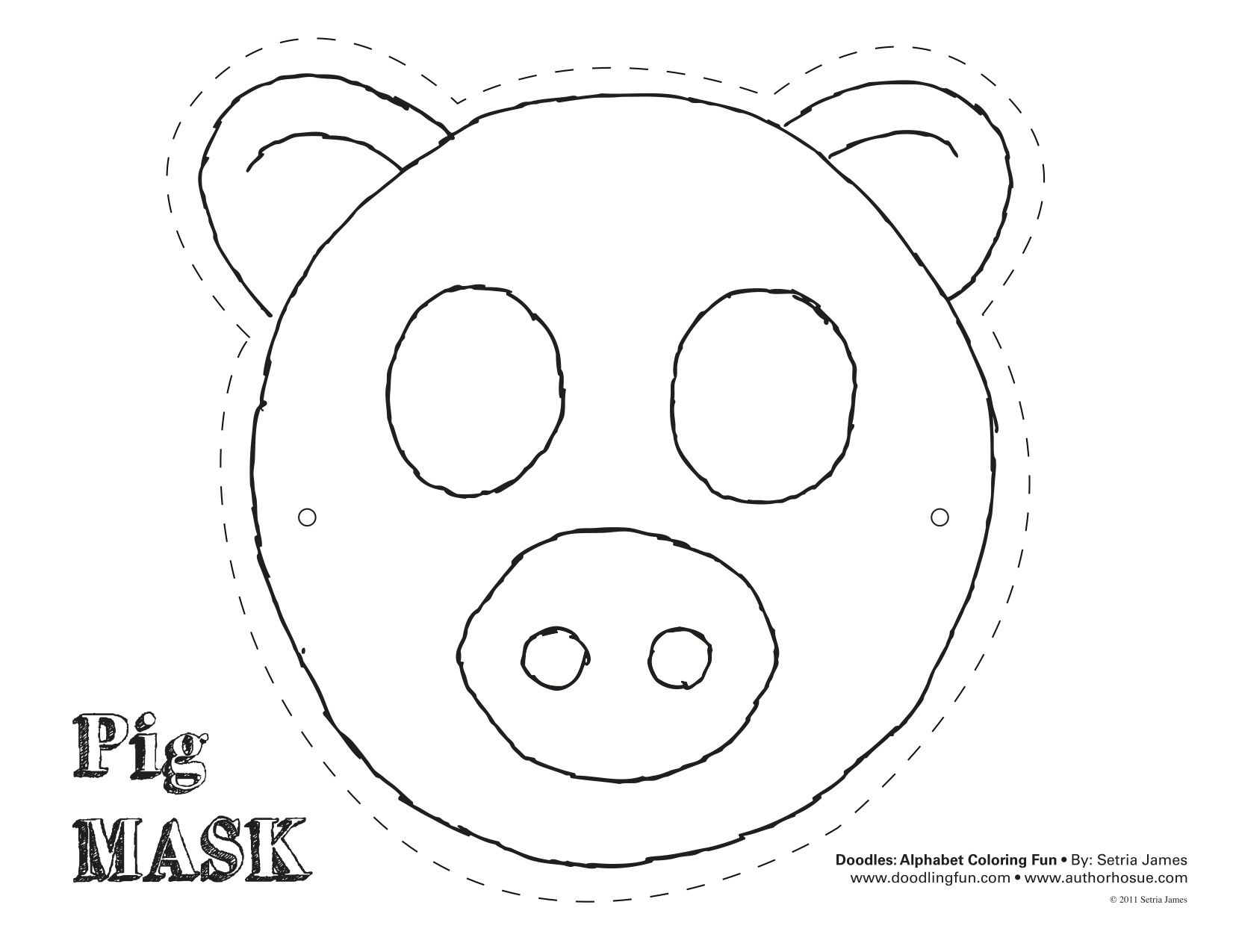 Printable Pig Mask