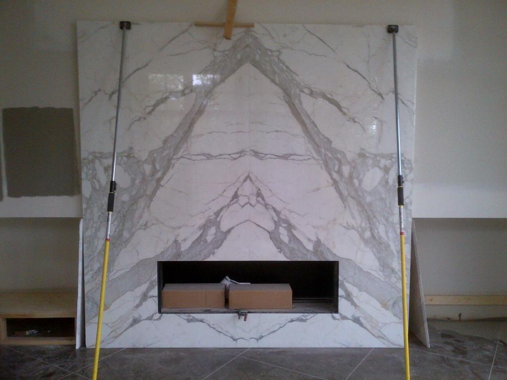 Atkinson Residence Fireplace Surround In Statuario Marble