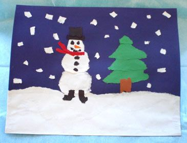 Image result for torn paper snow picture