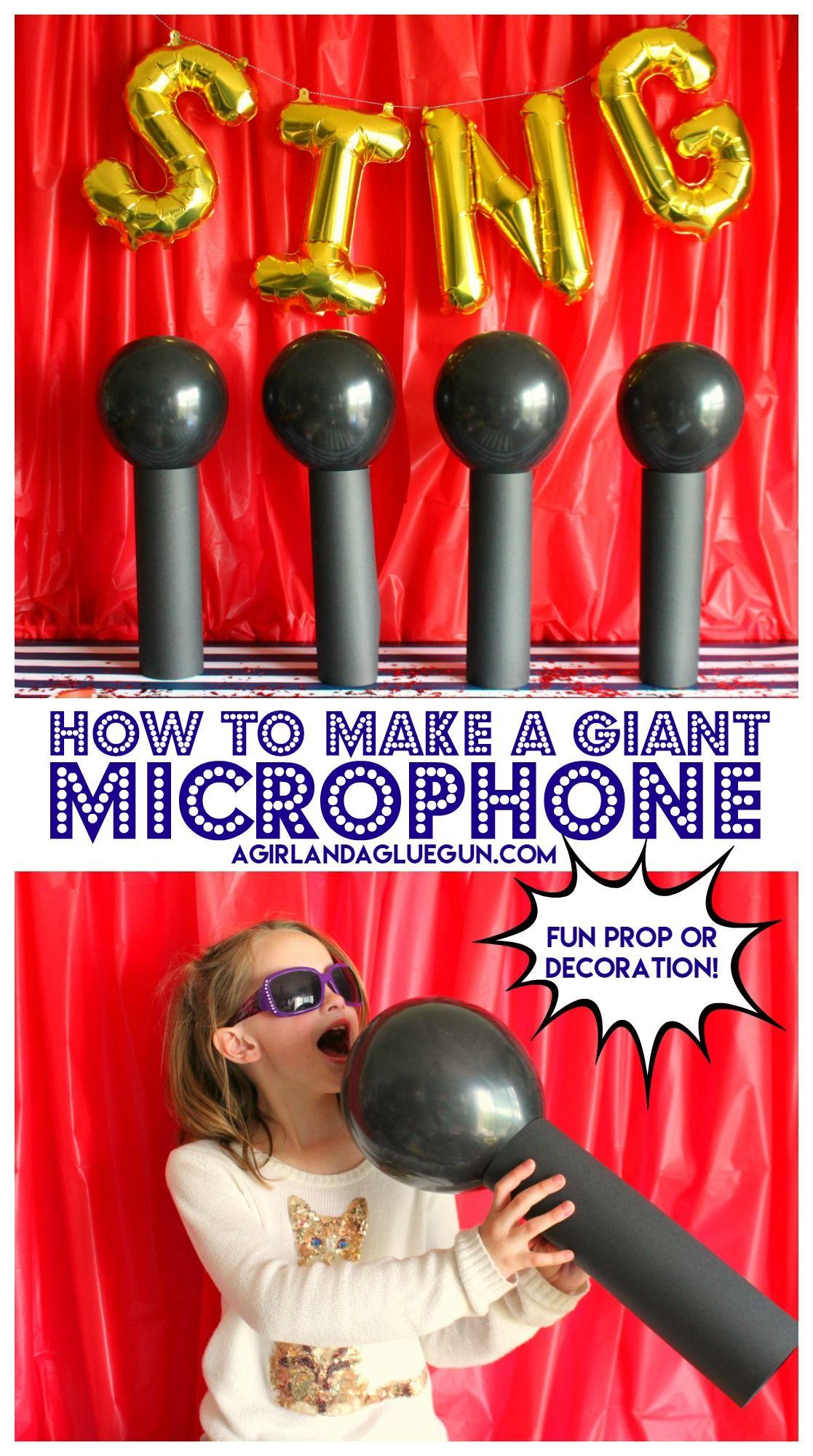 DIY Giant microphones Sing movie, Movie party and Karaoke