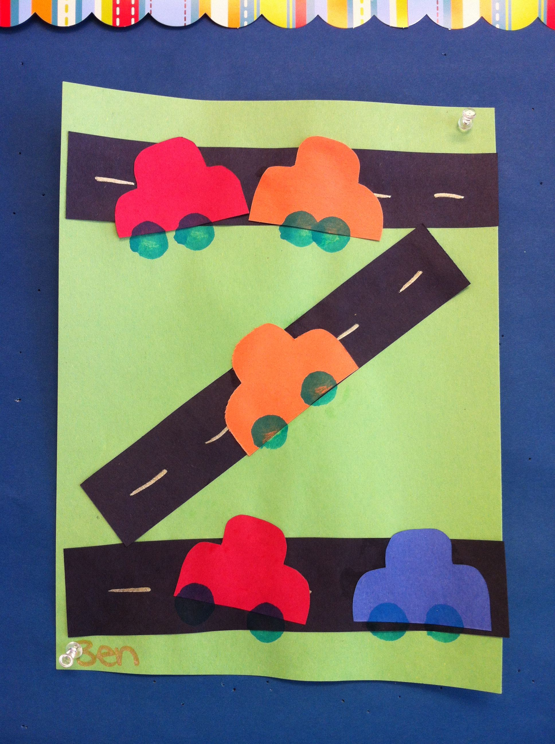 Preschool Road Car Craft